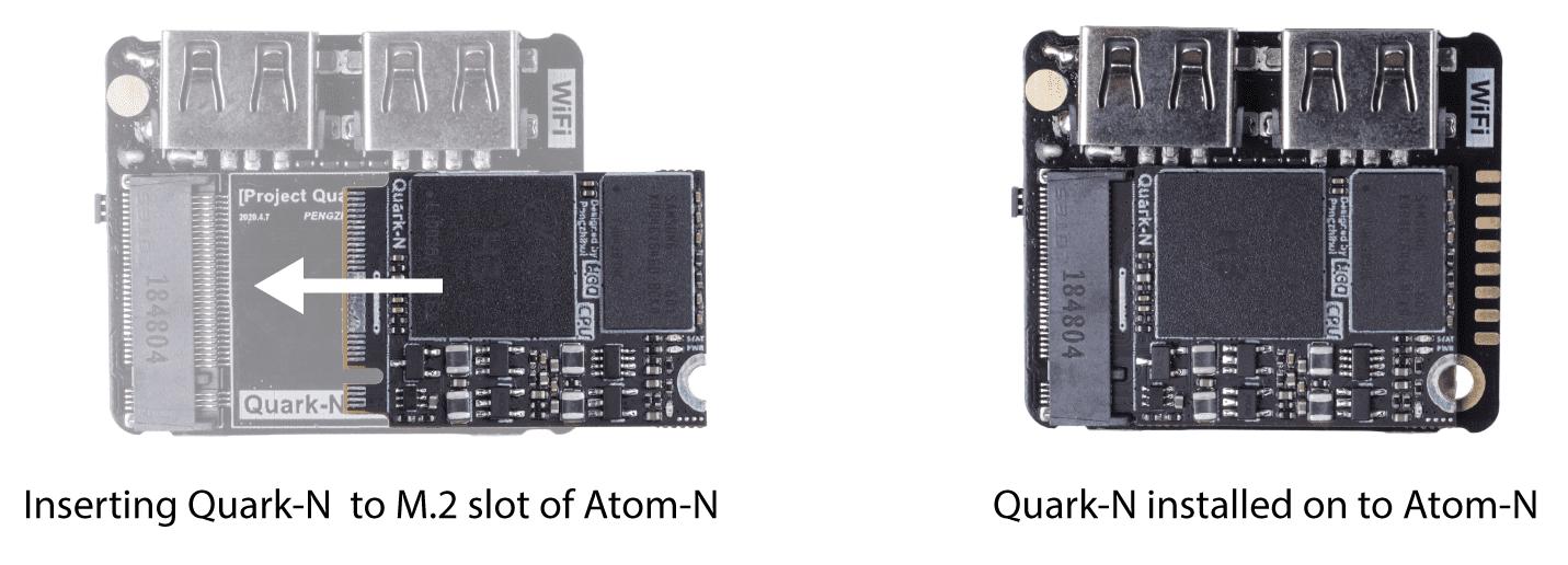 """alt=""""ภาพชุดพัฒนา Quantum Mini Linux Development Kit"""""""