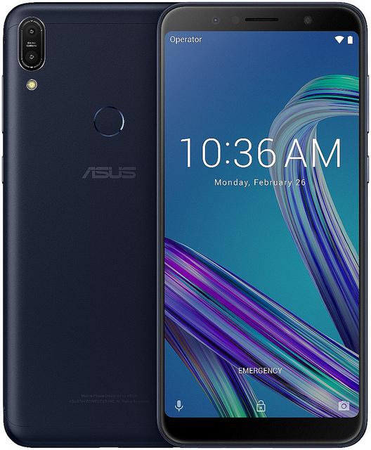 "alt=""ZenFone Max Pro (M1)_ZB601KLZB602KL_Deepsea Black_Front"""