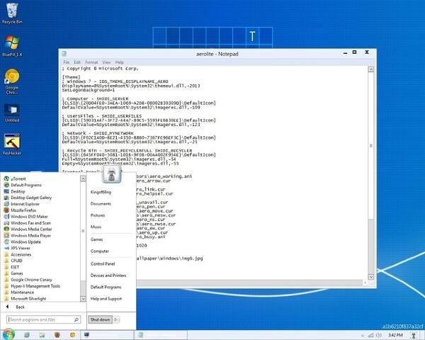 ธีม Aero Lite และ ฟีเจอร์ Windows Store บน Windows 8 ได้รับ