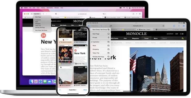 แอปเปิลเปลี่ยนใจ ปรับดีไซน์แท็บ Safari ของ macOS 12 กลับมาใช้ดีไซน์เดิม