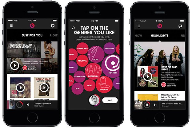 "alt=""Beats Music on iOS"""