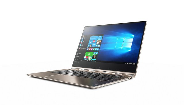 "alt=""Yoga 910 convertible in gold"""
