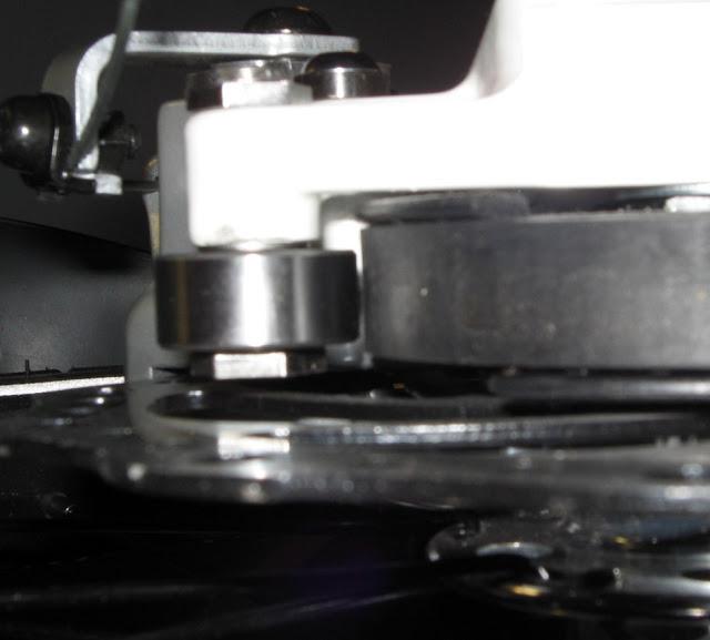 "alt=""strida snubber bearing to prevent drive belt slippage"""