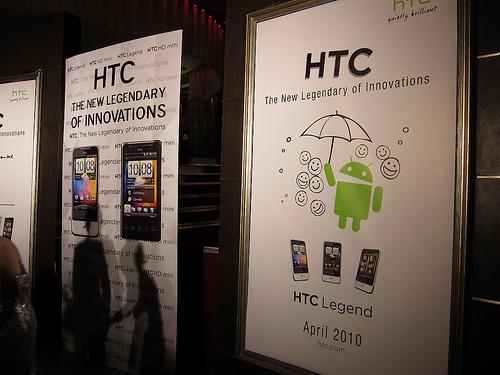 "alt=""HTC Legend and HTC HD Mini"""