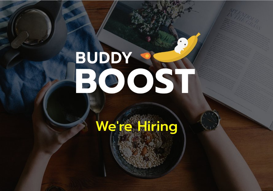 "alt=""alt=""BUDDYBOOST is hiring!"""""