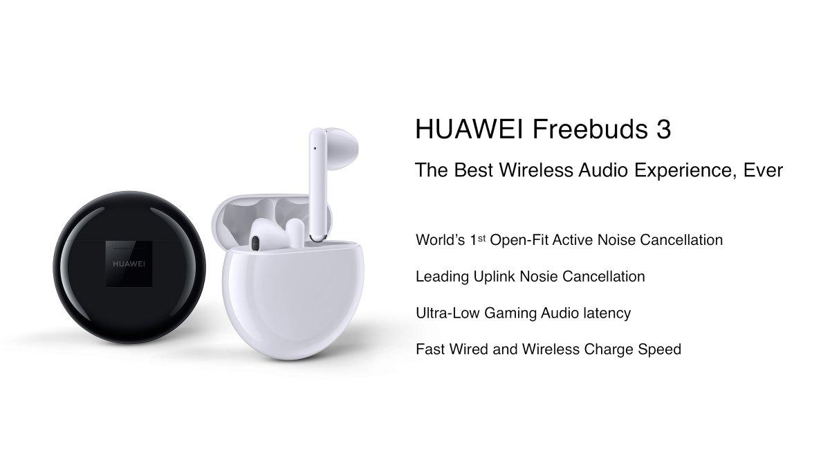 Huawei เปิดตัวหูฟังไร้สาย FreeBuds 3 พร้อมชิป Kirin A1 ซิงก์