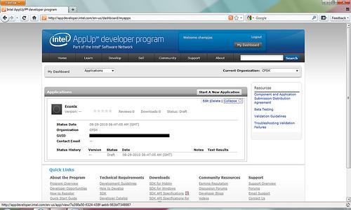 """alt=""""หน้ารวมแอพลิเคชัน และสร้างแอพลิเคชันใหม่ เพื่อขอ Application ID"""""""