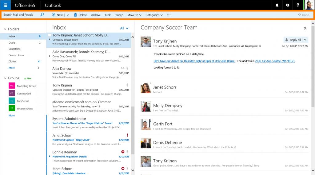 ���มโครซอฟท์ยกเครื่อง Outlook Web App ���ปลี่ยนชื่อเป็น