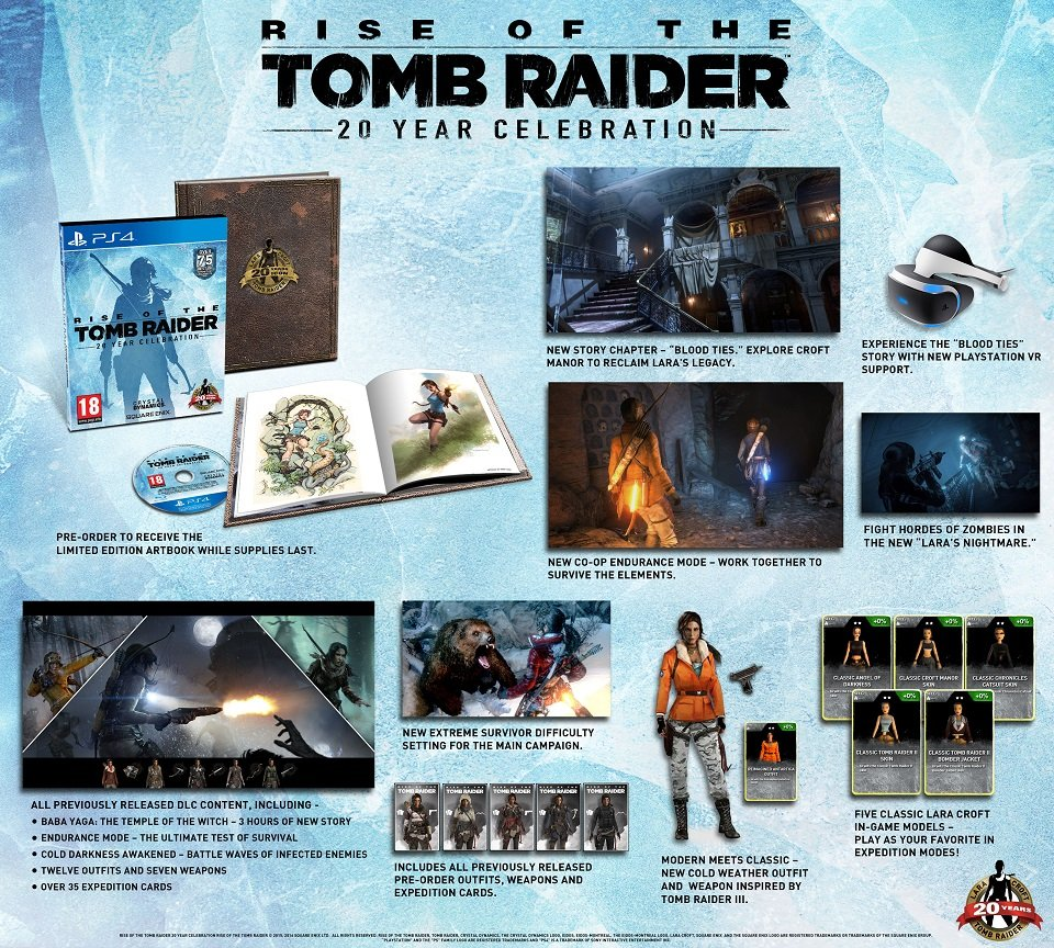 Square Enix Rise Of The Tomb Raider 20 Year