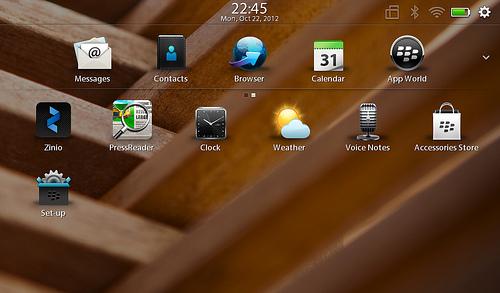"alt=""หน้าตาของ Playbook OS 2.1 /4"""