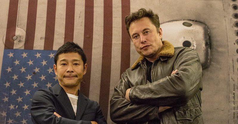 """alt=""""Yusaku Maezawa & Elon Musk"""""""