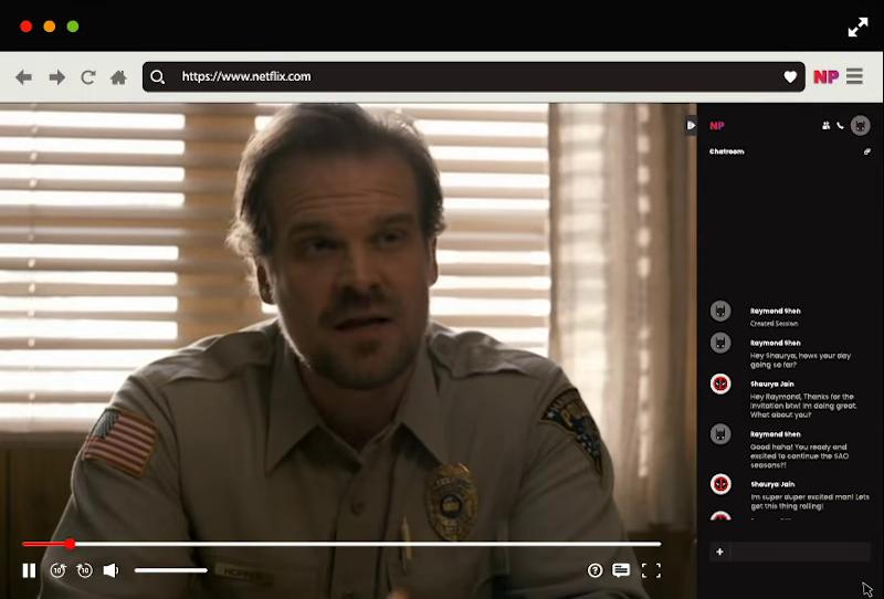 "alt=""ภาพตัวอย่างการใช้งาน Netflix Party"""