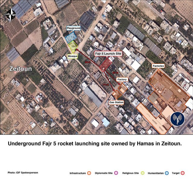 "alt=""Long-Range Rocket Launch Site in Zeitoun Neighborhood"""