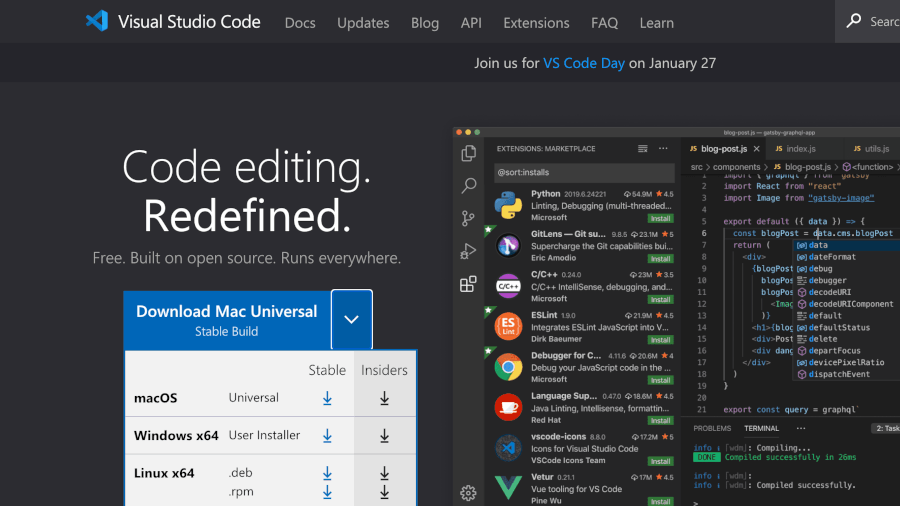 Visual Studio Code 1.54 รองรับ Apple Silicon แล้ว