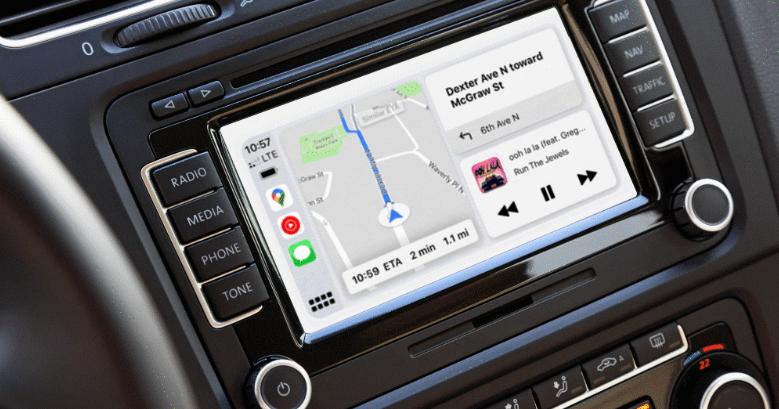 """alt=""""CarPlay Dashboard Google Maps"""""""