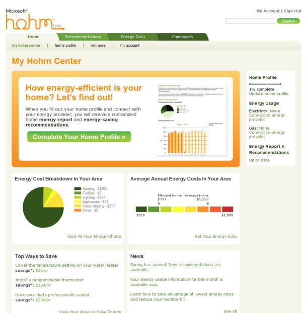 "alt=""Microsoft Hohm Dashboard"""