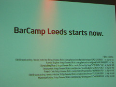 "alt=""BarCamp Leeds starts now."""