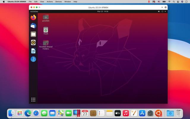 """alt=""""Ubuntu 20.04 บนแมค M1"""""""