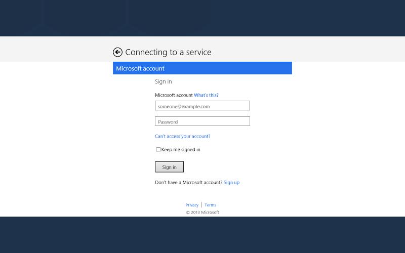 "alt=""การยืนยันตัวตนผู้ใช้ด้วย Microsoft Account)"""