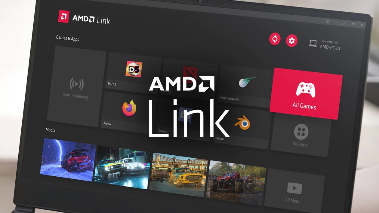 "alt=""ภาพตัวอย่าง AMD Link for Windows จากเว็บไซต์ AMD"""