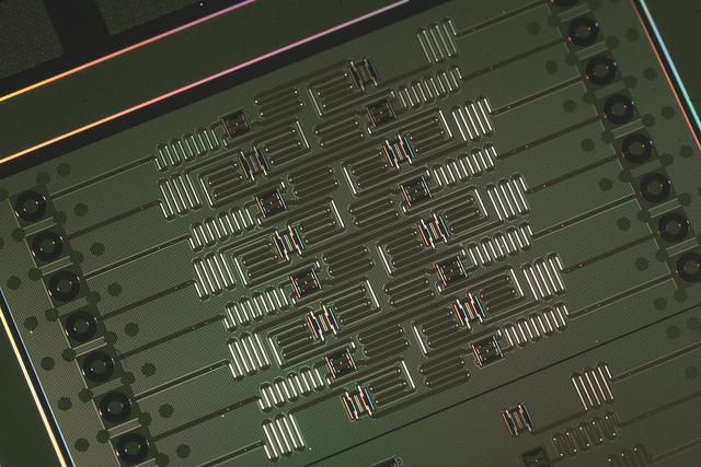 """alt=""""IBM's 16-qubit quantum processor"""""""