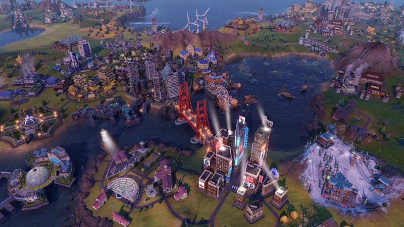 "alt=""Late game city state in Civilization VI Gathering Storm"""