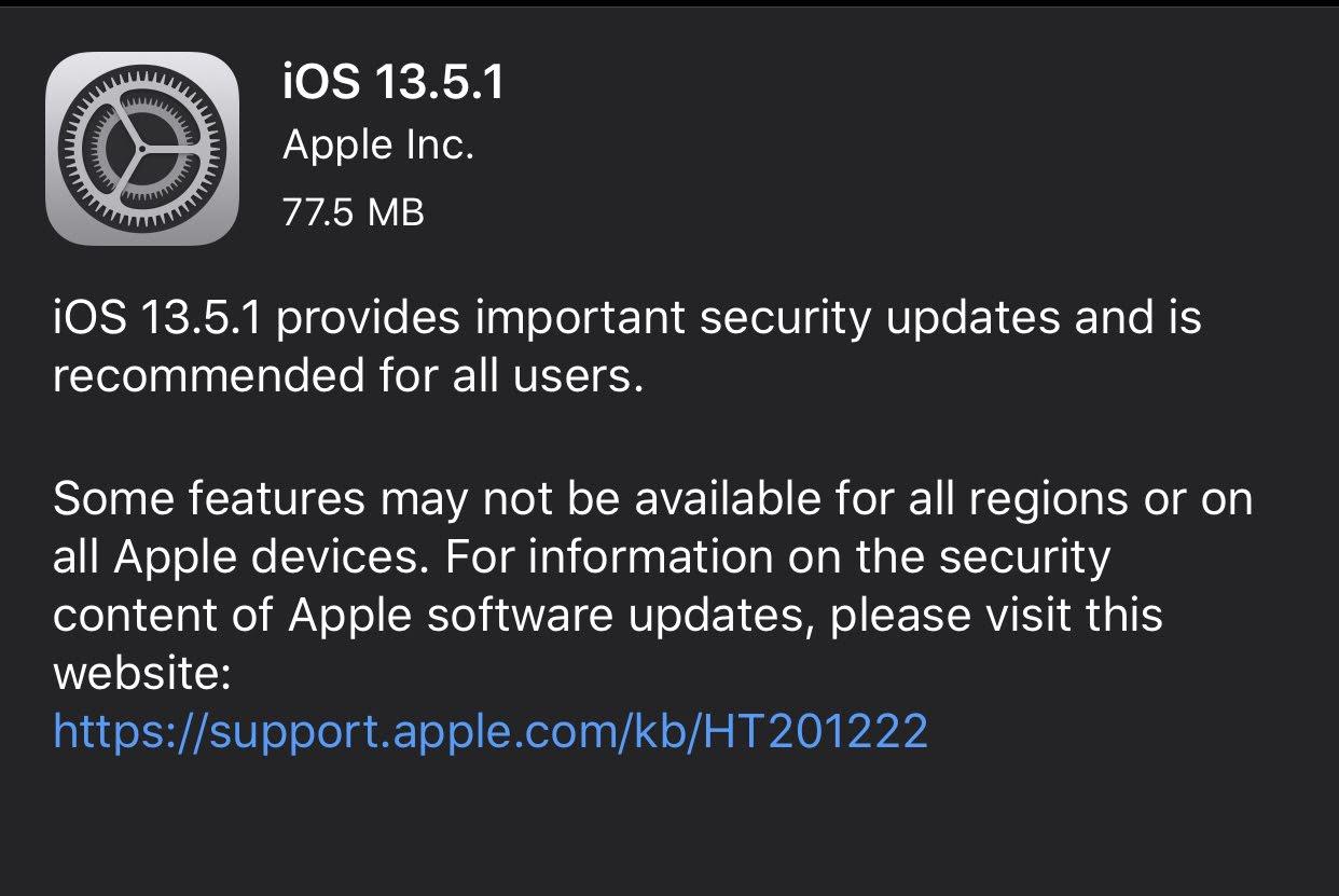 """alt=""""iOS 13.5.1."""""""