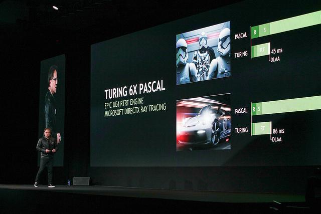 "alt=""NVIDIA CEO Jensen Huang at SIGGRAPH 2018"""