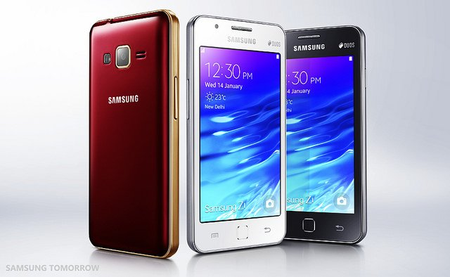 """alt=""""Samsung-Unveils-the-Samsung-Z1-the-First-Tizen-Powered-Smartphone-for-Indian-Consumers"""""""