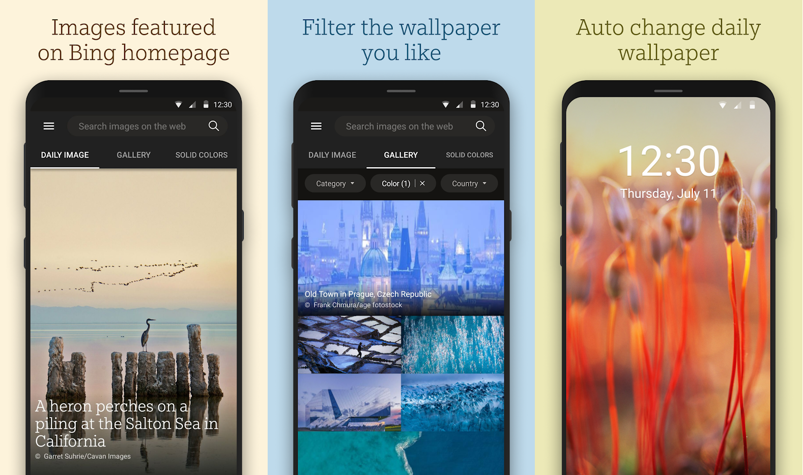 "alt=""ภาพตัวอย่างแอพ Bing Wallpaper พร้อมคำอธิบายจาก Google Play"""