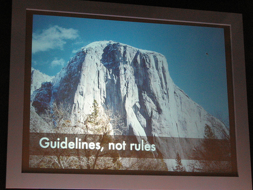 """alt=""""Guidelines, not rules"""""""