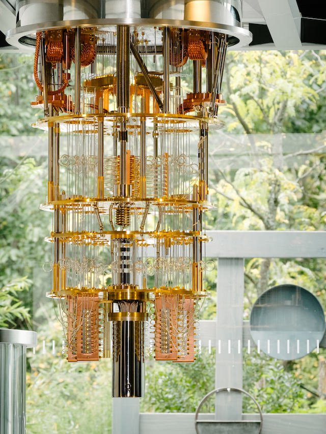 """alt=""""IBM's cryostat for 50-qubit chip"""""""