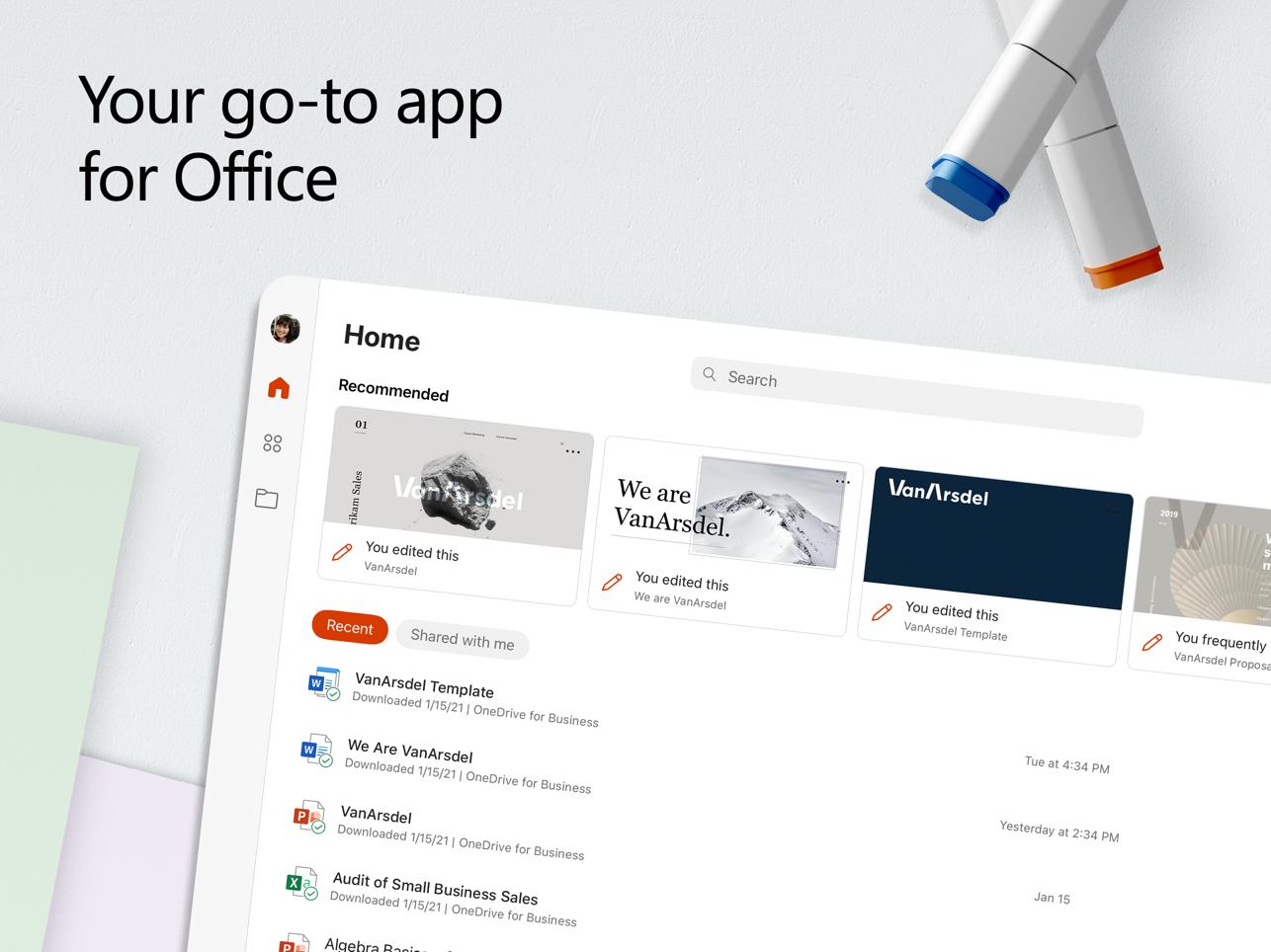 """alt=""""ภาพแอพ Microsoft Office บน iPad จาก App Store"""""""