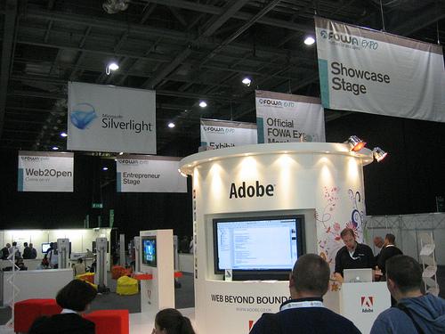 """alt=""""Adobe Booth @ FOWA"""""""