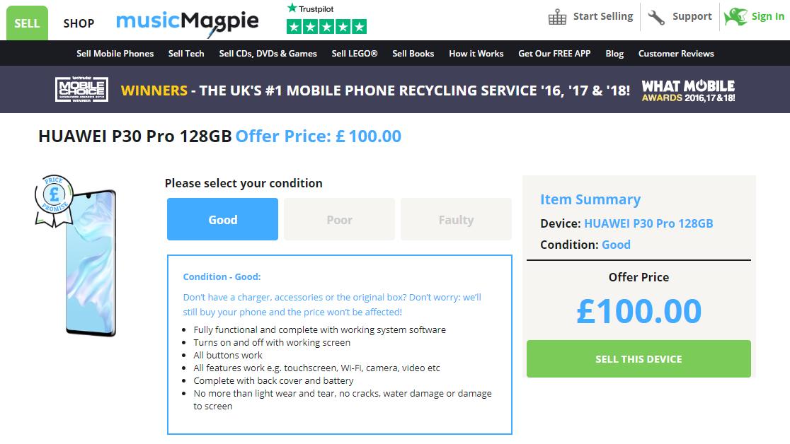 ราคารับซื้อ Huawei P30 Pro มือสองในอังกฤษลดฮวบ เหลือแค่ 4 พันบาทเท่านั้น