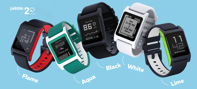 "alt=""Five color of Pebble2."""
